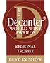 Decanter Awards 2014: Red Italian Varietals under £15 Regional Trophy,