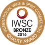 IWSC Bronze Medal 2016