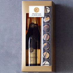 Prosecco and exceptional characters chocolates