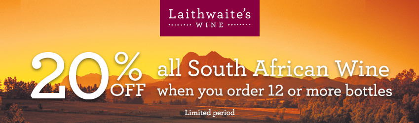 Laithwaites 20% off South African Wines
