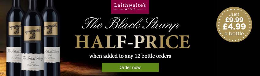 Laithwaites Black Stump Half Price Offer