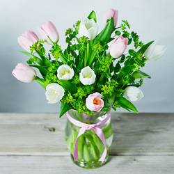 British Tulips Posy Vase
