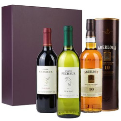 Malt Whisky & Wine Gift Set