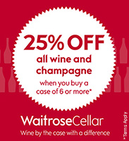 Waitrose Cellar 25% Off