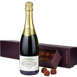 Champagne & Chocolate Truffles Gift