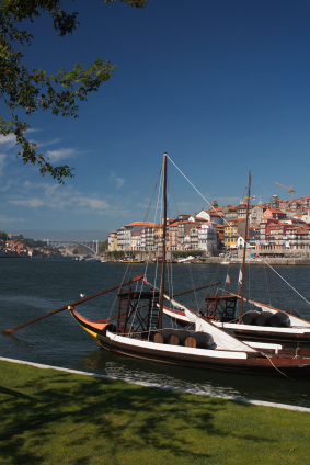 Portuguese boats carrying wine