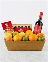 M&S Christmas Mulled Wine & Fruit Hamper